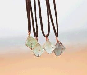 Handmade Natural Fluorite Crystal Necklace